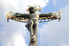 Crucifix and blue sky Royalty Free Stock Photos