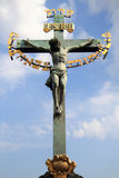 Crucifix and blue sky Royalty Free Stock Images