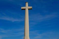 Crucifix branco três Fotos de Stock