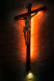 Crucifix of the Catholic Christian faith in silhouette. Stock Photography