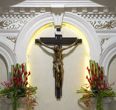 Crucifix in a Catholic Church Stock Photos