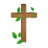 Crucifix christian or catholic icon image. Vector illustration design Stock Images