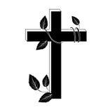 Crucifix christian or catholic icon image. Vector illustration design Stock Photos