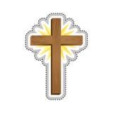 Crucifix christian or catholic icon image. Vector illustration design Royalty Free Stock Photo