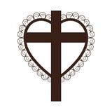 Crucifix christian or catholic icon image. Vector illustration design Royalty Free Stock Image