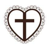 Crucifix christian or catholic icon image. Vector illustration design Royalty Free Stock Images