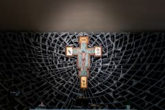Crucifix in the church royalty free stock images