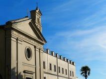 Crucifix Church Facade Nemi Italy Stock Photos