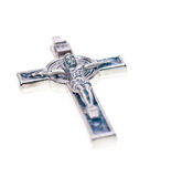 Crucifix close up isolated on white background Stock Image