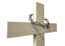 Crucifix With A Crown Of Thorns Stock Photo