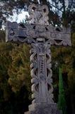 Crucifix de ciment dehors photographie stock libre de droits