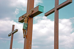 Crucifix de Jésus-Christ Images libres de droits