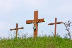 Crucifix de Jésus-Christ Photographie stock libre de droits