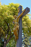 Crucifix de Jésus-Christ Photos libres de droits