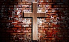 Crucifix de madeira foto de stock