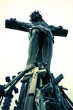 Crucifix e cruz cristãos Fotos de Stock Royalty Free