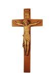 Crucifix en bois Image libre de droits