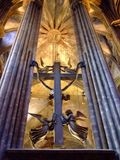Crucifix et anges Image libre de droits