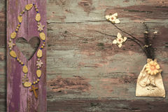 Crucifix and flowers religious background Stock Photography