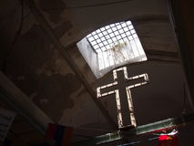 Crucifix in Jerusalem`s Christian Quarter Stock Images