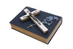 Crucifix Jesus. White background isolate Stock Photos