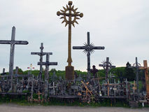 Crucifix, large and small. stock photos