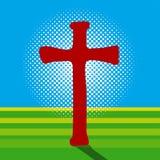 Crucifix and Light Stock Photo
