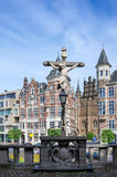 Crucifix located in the Het Steen Castle in Antwerp Royalty Free Stock Images