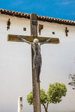 Crucifix at Mission San Miguel Arcangel Royalty Free Stock Images