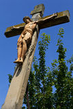 Crucifix Monument in Linz Stock Images
