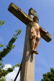 Crucifix Monument in Linz Stock Photography