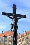 Crucifix near Cesky Krumlov castle Royalty Free Stock Photo