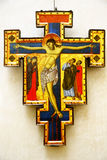 Crucifix painted by Master of St.Francis, Louvre Royalty Free Stock Images