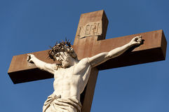 Crucifix at the Palace of the popes Royalty Free Stock Photo