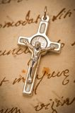 Crucifix on parchment Royalty Free Stock Photography