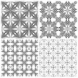 Crucifix pattern Set Stock Images