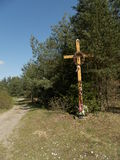 Crucifix près des carrefours Photo libre de droits