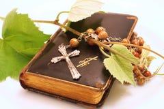 Crucifix and Prayer book Royalty Free Stock Photo