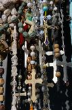 Crucifix and rosaries . Royalty Free Stock Photography
