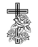 Crucifix with roses Royalty Free Stock Photography
