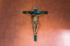 Crucifix in Santa Catalina monastery Arequipa Peru Stock Images