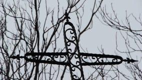 Crucifix silhouette cross christian stock footage