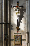 Crucifix in York Minster, UK Royalty Free Stock Photo