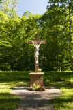 Crucifix in the Spessart Stock Image