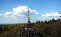 Crucifix on Spicak hill Stock Image