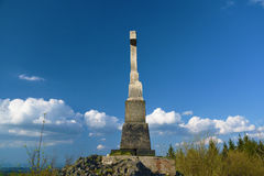 Crucifix on Spicak hill Stock Images