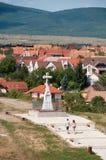 Crucifix sur la côte de Benedek, Veszprem, Hongrie image libre de droits