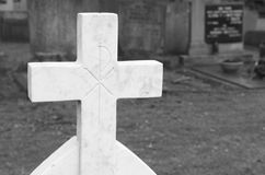 Crucifix tombstone Stock Photography