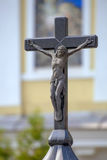 Crucifix on the top of chapel. Royalty Free Stock Photography