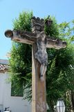 Crucifix in town square, Granada. Stock Photography
